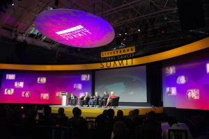 Lance Armstrong Global Cancer Summit stage and backdrop 3.JPG