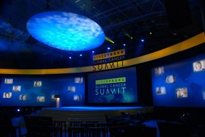 Lance Armstrong Global Cancer Summit stage and backdrop 2.JPG