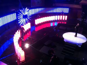 Take Me Out Backdrop in the Helix.JPG